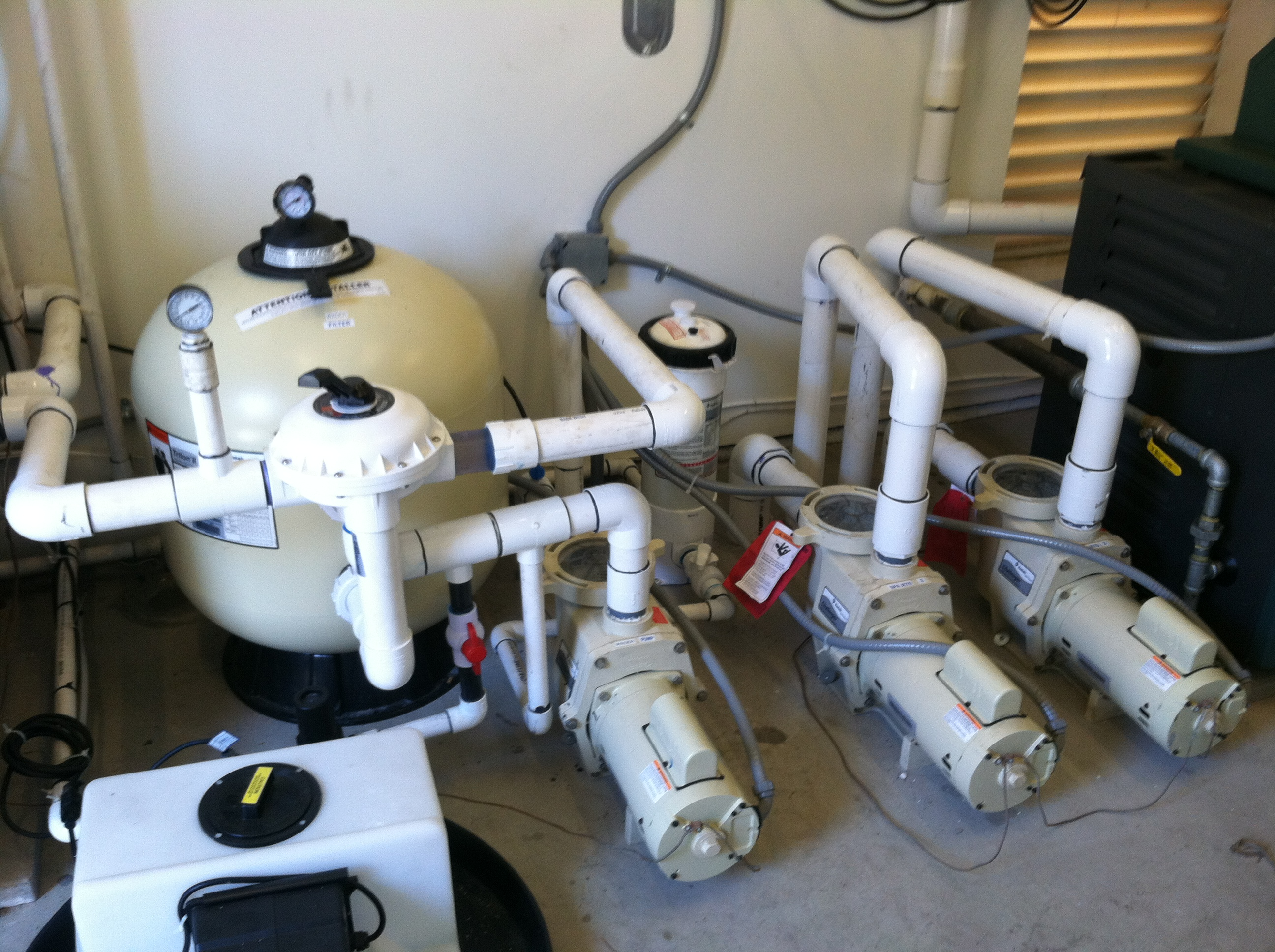 Pool Equipment Plumbing : Pool equipment set